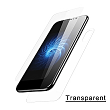 Baseus 3D Round Curved Front+Back Edge Screen Protector for Apple IPhone X (transparent) MQSHOP