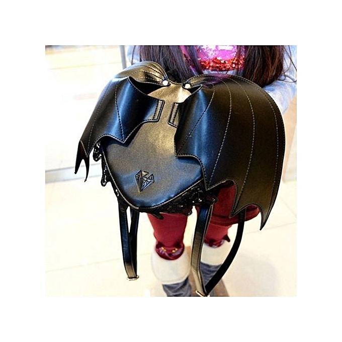 5f7abc7e64 Cool Bat Wing Backpack Women Punk Stylish Newest Bags Female Bat Bag Angel  Wings Backpacks Cute