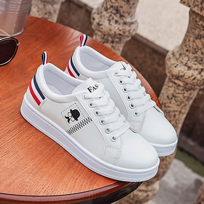 Generic Uj Fashion Pu Upper Women Sneakers Breathable Matching Color