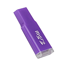 jiuhap store High Speed Mini USB 2.0 Micro SD TF T-Flash Memory Card Reader Adapter PP-Purple