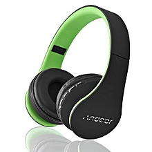 Best-selling LH-811 Digital 4 In 1 Multifunctional Wireless Stereo Bluetooth 4.1 + EDR Headphone Earphone Headset & Wired Earphone With Mic MP3 Player MicroSD / TF Music FM Radio Hands-free For Smart Phones Tablet PC Notebook  Green