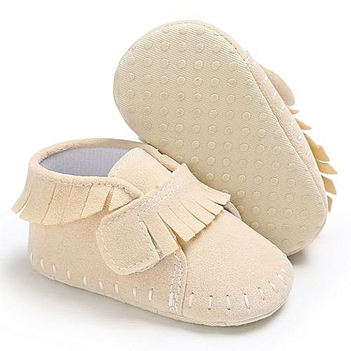 f0245b46f8513 bluerdream-Baby Shoes Boy Girl Newborn Crib Soft Sole Shoe Sneakers-Beige