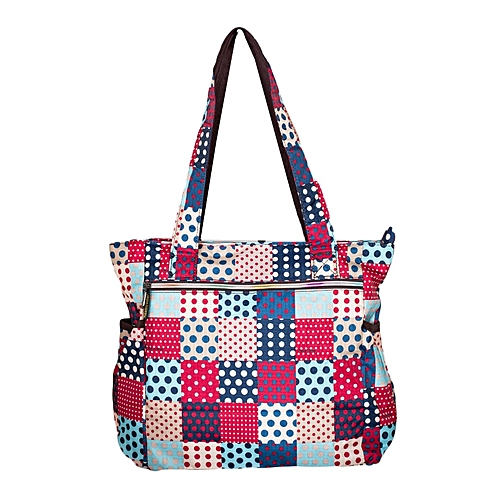Waterproof Multi Color Polka Dot Diaper Bag With Pouch