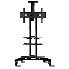 "ONKRON TS1551 - 32"" - 65"" - Universal Mobile TV Cart TV Stand for LED LCD Plasma & Curved Displays - Black"