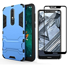 Nokia X5/5.1 Plus PC Case + Full Cover Screen Protector