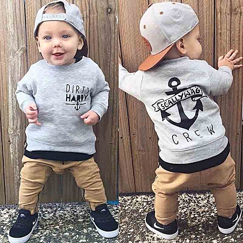 43a4143d4 Generic Newborn Baby Boys Kids Casual T-shirt Tops Pants Autumn ...