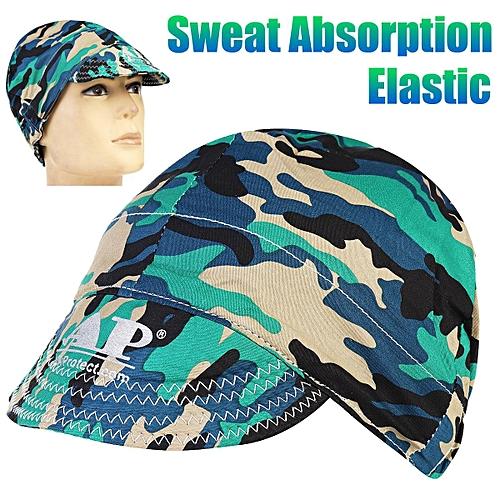 Generic 2PCS Universal Sweat Absorption Elastic Welding Welder Hat Cap  Cotton Army Camouflage b0c91a63c4a