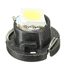 1 Pcs White 5050 SMD T5 Neo Wedge 1 LED Cluster Instrument Dash Lights New 12mm