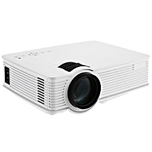 GP- 9 Mini Home Theater 2000 Lumens 1920 x 1080 Pixels Multimedia HD LCD Projector-WHITE