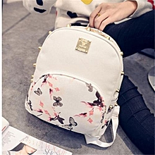 Girl School Bag Travel Cute Backpack Satchel Women Shoulder Rucksack White-White