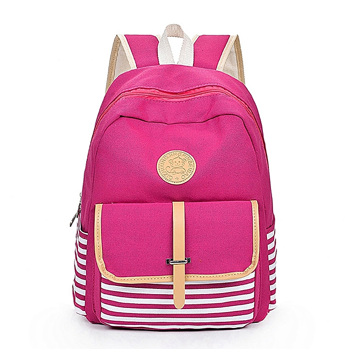 ... where to buy f6842 3777d guoaivo Women Girls Canvas Preppy Shoulder  Bookbags School Travel Backpack Bag ... a5248a620a