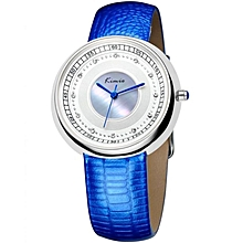 Classic Blue Wrist Watch + Free Gift Box