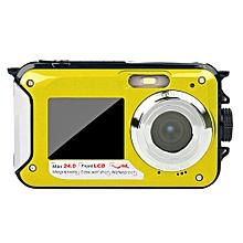 Double Screen Underwater Camera HD Waterproof Photo Shooting Video Recording Sports Diving LED Flash Digital Video Camera KANWORLD