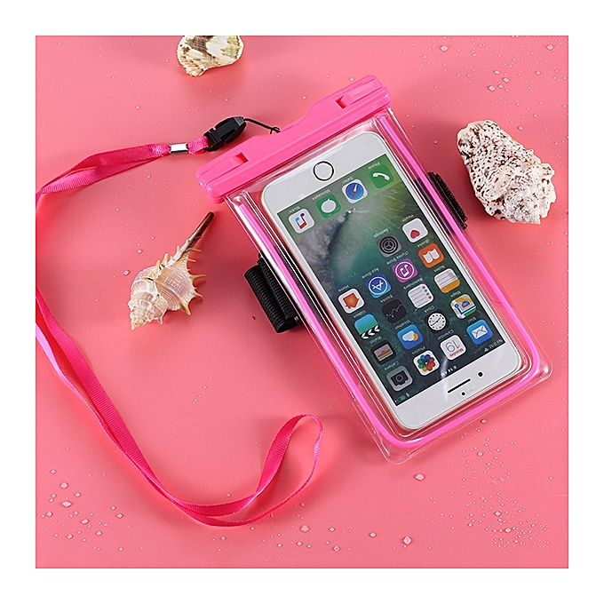 Men And Women Light 6 Inch Mobile Phone Super Waterproof Bag PVC Swimming  Touch Screen Storage ... b41f7d5e35