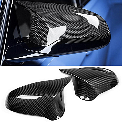 Generic Carbon Fiber Side Wing Mirror Cover Caps Replaces For Bmw