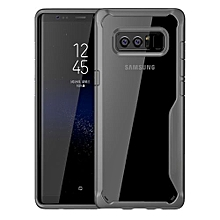 Samsung Galaxy Note8 Silicon Transparent Case, PC And TPU Anti-knock Phone Back Cover For Samsung Galaxy Note8-Gray.