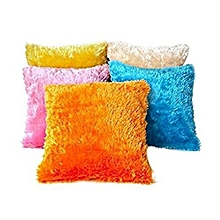 Baby Fur cushion covers set of 5 -Multicolour