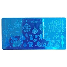 Christmas DIY Nail Art Image Stamp Stamping Plates Manicure Template A