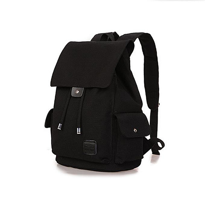Generic Drawstring Canvas Backpack Rucksack School Bag Travel Bag ... 352cd4cb33