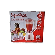 BLENDER (3 IN 1) with Grinder - 1.5 Litres - Classic Cream
