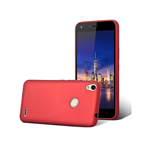 hot sale online a632f 87449 Techno WX4 Back Cover - Silicone Rubber Finish Red