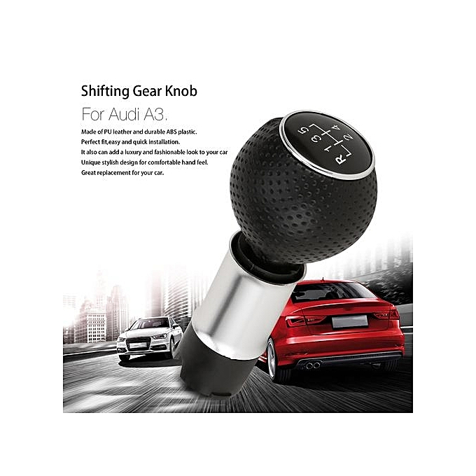 OR 5/6 Speed Gear Shifting Knob Lever Stick Handle Handball Head For Audi  A3 Black&silver