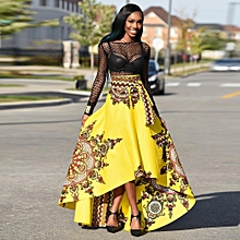 Xiuxingzi_New African Women Printed Summer Boho Long Dress Beach Evening Party Maxi Skirt