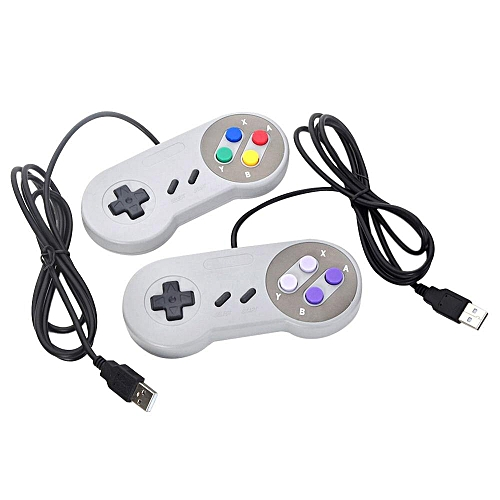 2019 Hot Sell Retro Wired USB Controller Gaming Joypad Joystick For SNES  Style For PC Window 7/8/10 Gamepad For Mac DNSHOP