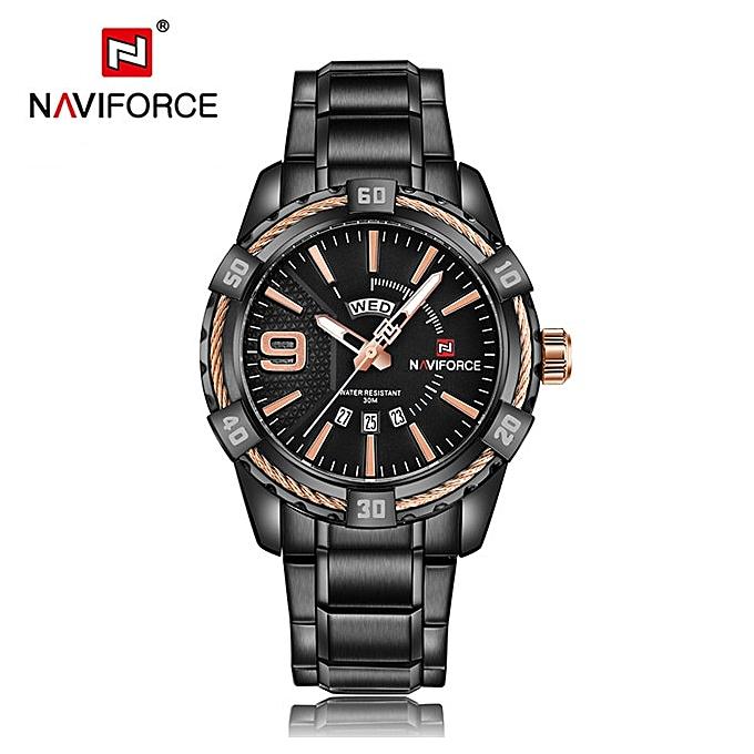 5223e70288ab Mens Top Brand Luxury Sport Watches Waterproof Quartz Watch Men full steel  Blue Military Wrist watch