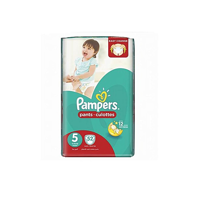 8481b92225 PAMPERS Pants Jumbo Pack - Size 5 - (12-18kg) - 52 Pieces @ Best ...