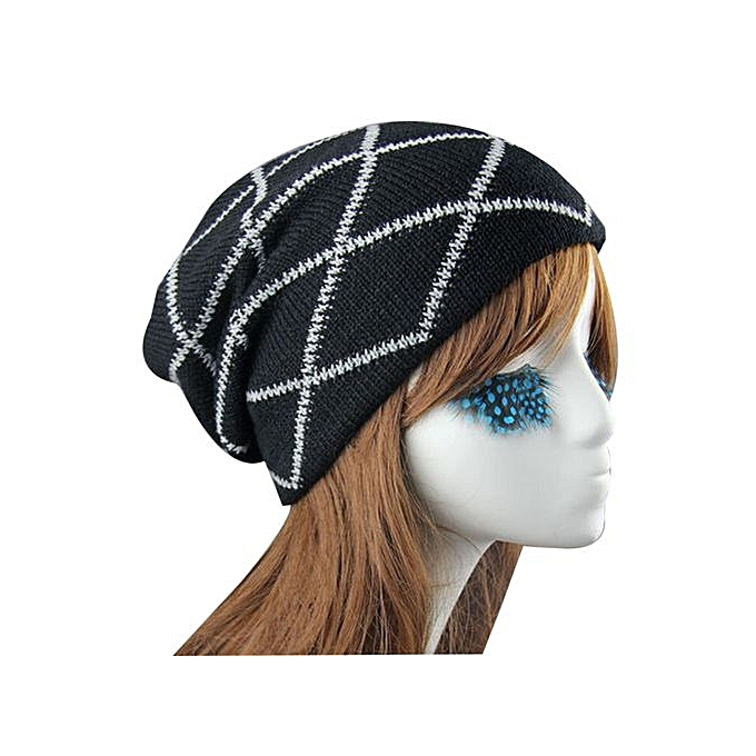 298cee080d1 Eissely Knit Winter Warm Women Men Hip-Hop Beanie Hat Baggy Unisex Ski Cap  Skull