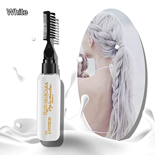 1PC 120 ML Temporary Hair Color Dye Cream Disposable DIY Hair Coloring  Products Colored Mud Hair Styling Tools 5 Colors(White 2)