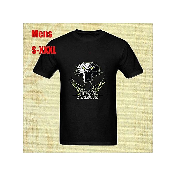 2841dbdc9 New Fashion Team Arctic Men Black T Shirt Cotton Printed Short Sleeves  Funny Graphic Tee Shirt