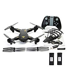 VISUO XS809HW WIFI FPV With Wide Angle HD Camera High Hold Mode Foldable Arm RC Drone Quadcopter RTF 0.3MP