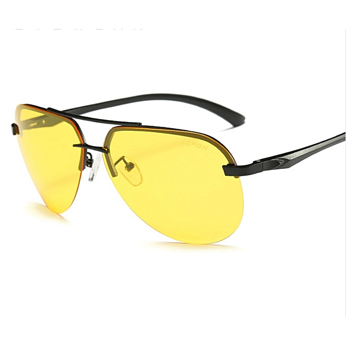 Generic Elegant Driving Photochromic Sunglasses Square Men Polarized  Chameleon Discoloration Sun glasses for men oculos de sol masculino-yellow f465b3693a