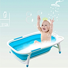 Baby Basin Bath Tub Portable Collapsible Bathing Foldable Shower Infant - Blue
