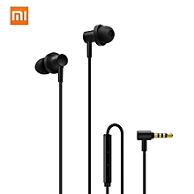 In-Ear Earphones 2 Moving Iron Coil Dynamic 3.5mm Noise Cancelling Stereo Earphone Wired Control With MIC