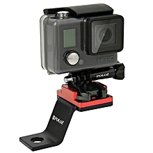PULUZ PU171R Fixed Metal Motorcycle Holder Mount For Gopro SJCAM Xiaomi Yi Action Sport Camera Accessories