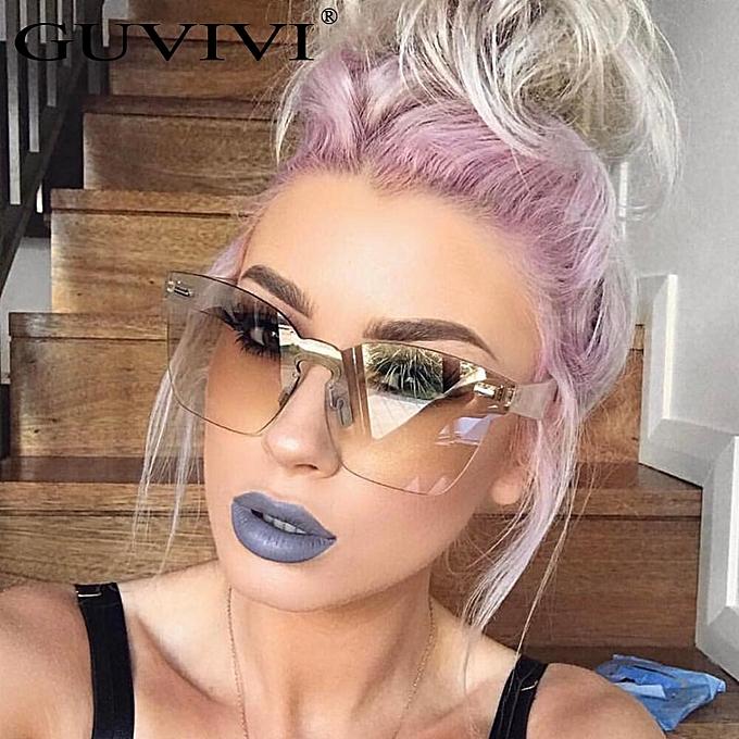f1745bf20 Fashion Brand designer sunglasses women Summer Rimless Square Shades Sun  glasses Eyewear sunshines Luxury Sunglasses woman