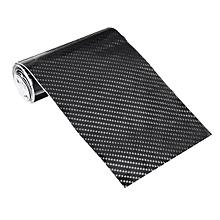 6D 10*152cm Gloss Black Carbon Fibre Fiber Vinyl Car Wrap Air Release Film