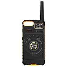 NO1 Ip01 Outdoor Multifunctional Wireless Handheld Walkie Talkie-BEE YELLOW
