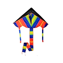Triangle Flying Kite Outdoor Play Toy Polyester Fiberglass Colorful Kite With Long Tail
