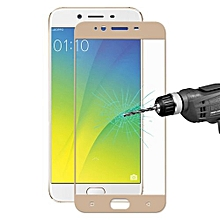 ENKAY OPPO R9s Hat-Prince 0.26mm 9H Hardness 2.5D Explosion-proof Colorful Full Screen Tempered Glass Screen Film(Gold)