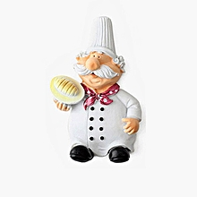 Creative Cartoon Chef Storage Hook Power Cable Plug Housing Hanger white