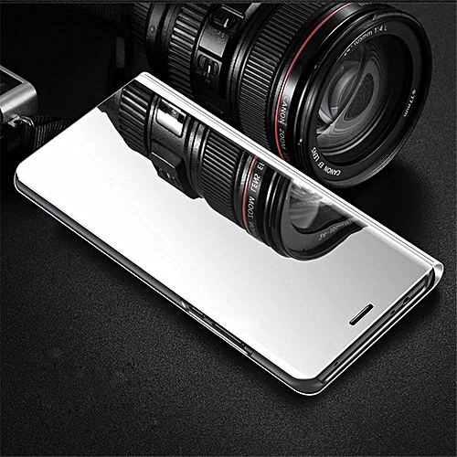 best cheap 0a0cd 27d6a Vivo V9(vivo V9) Mirror Leather Case - Silver