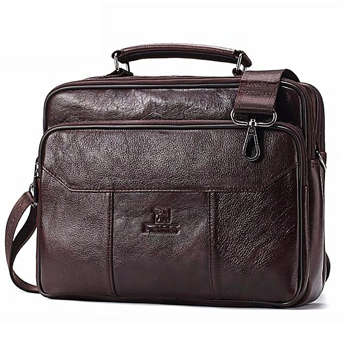 ad400ff0760 ... Men Genuine Leather Bag Vintage Totes Handbags Fashion Male Messenger  Bags Briefcase Shoulder Bag ...