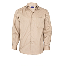 Beige Long Sleeved Shirt