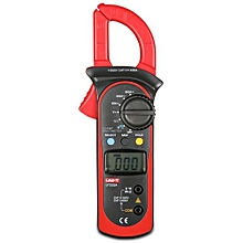 UNI-T UT202A Digital Clamp Pattern Multimeter LCD Screen Measuring Instrument - Gray And Red