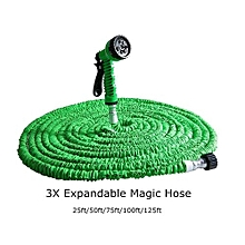 25FT Expandable Garden Hose Water Pipe Spray Nozzle