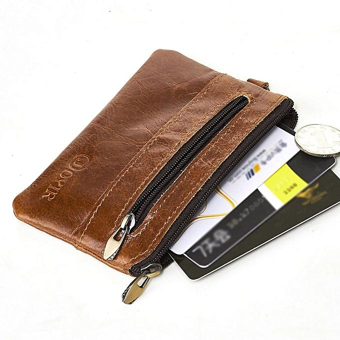 1a9142c9e8c0 JOYIR Coin Purse Men Leather Wallets Men Wallet Women Vintage Slim Zipper  Short Wallets Card Holder Pouch For Cards New(black wallet)